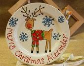 Personalised Reindeer Plate