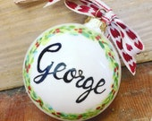 Cermaic hand painted Christmas  Bauble