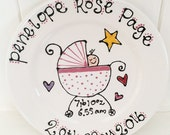 Personalised New Born Baby Gift Plate