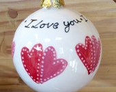 Hand painted Christmas bauble