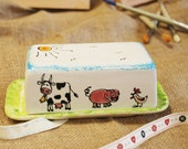 Personalised Farm Animal Butter Dish