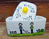 Personalised Birthday Butter Dish