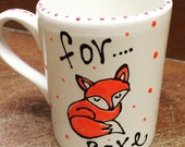 Hand painted Fox Mug