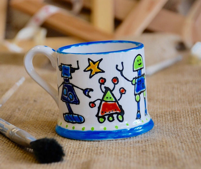 Personalised Children's Robot Mug image 0
