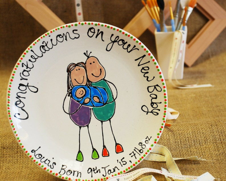 Personalised New Baby Plate image 0