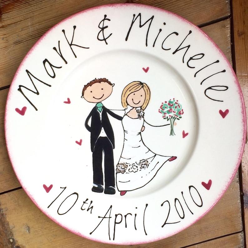 Wedding Anniversary Plate Customised Personalised Design image 0