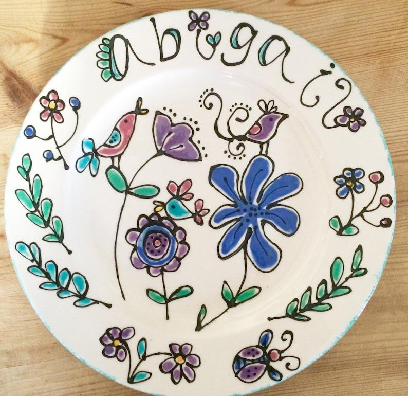 Children's Bird Design Gift Plate image 0