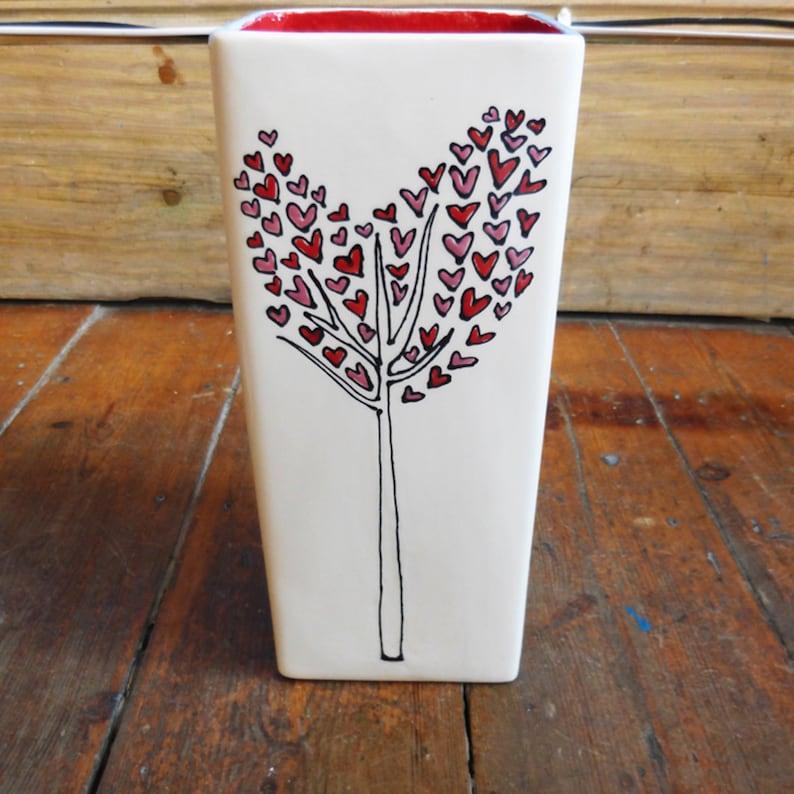 Personalised Heart Tree Wedding Vase image 0