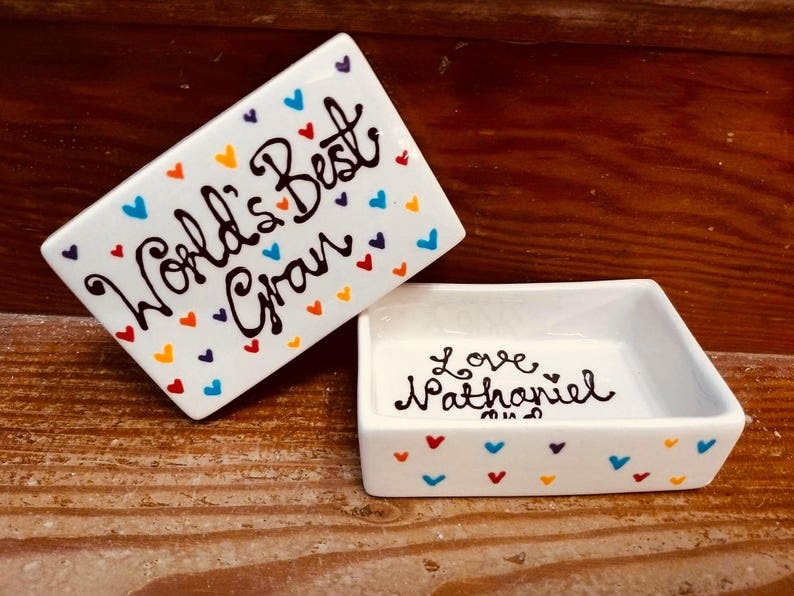 Personalised trinket dish trinket box image 0