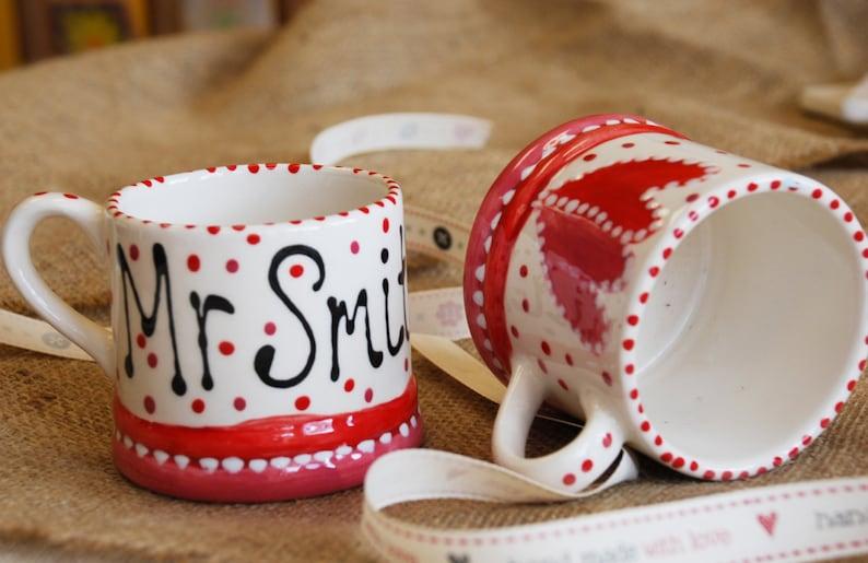 Set of Two Wedding Gift Mugs image 0