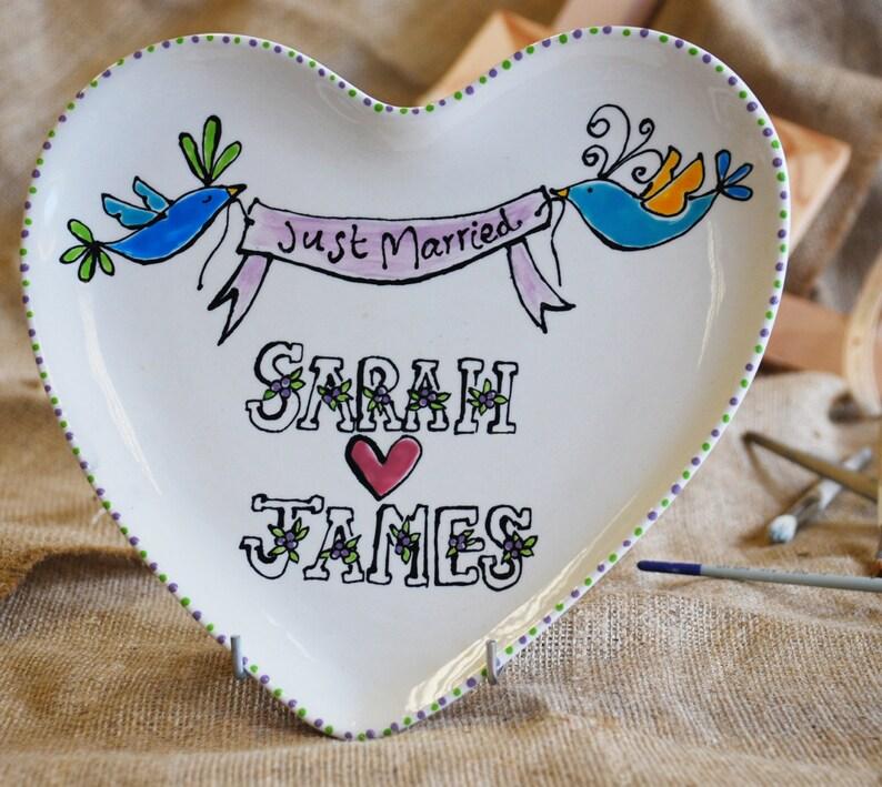 Heart Plate Wedding Gift image 0