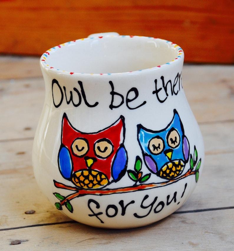 Personalised Owl Mug image 0