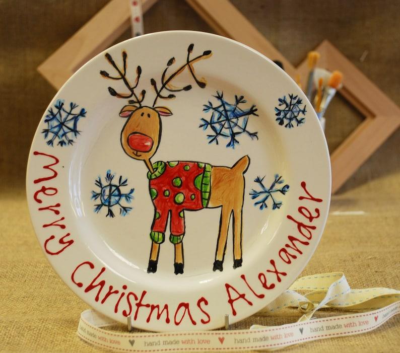 Personalised Reindeer Plate image 0
