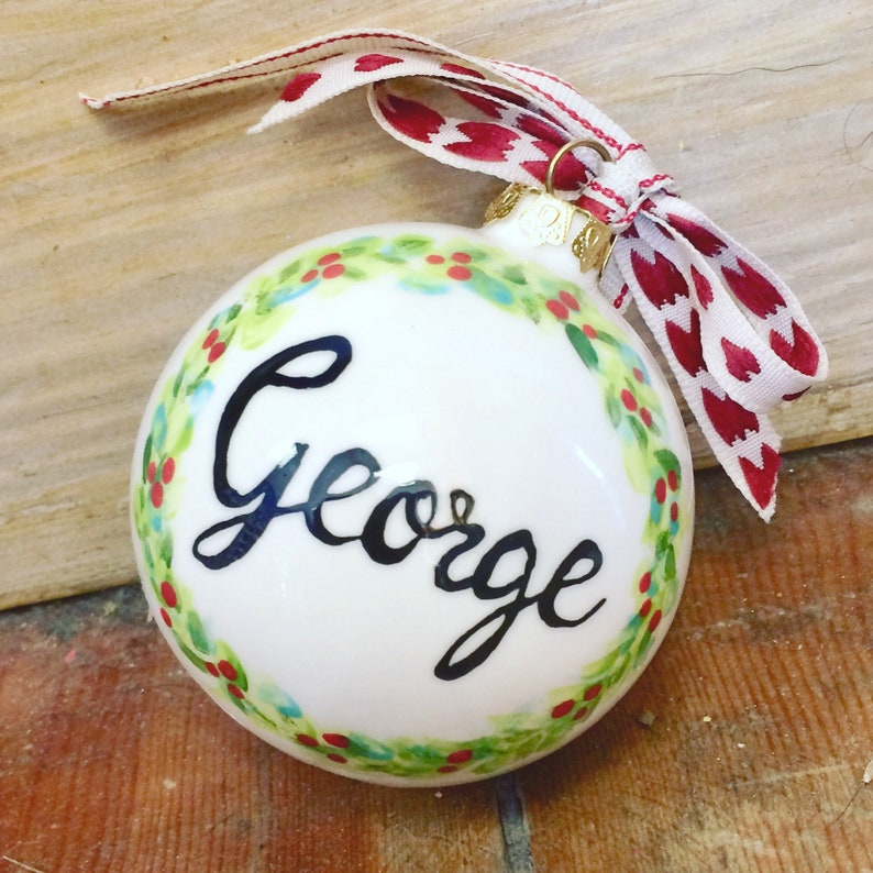 Cermaic hand painted Christmas  Bauble image 0