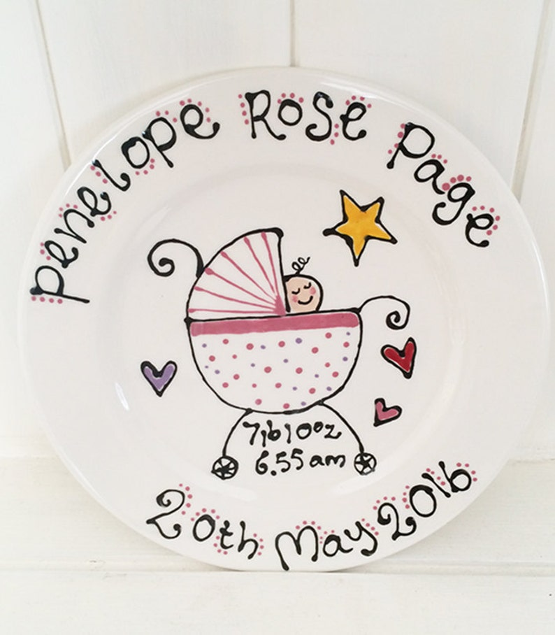 Personalised New Born Baby Gift Plate image 0