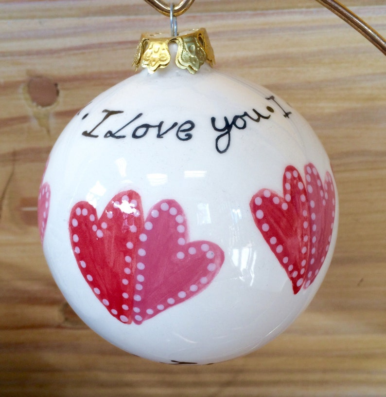 Hand painted Christmas bauble image 0