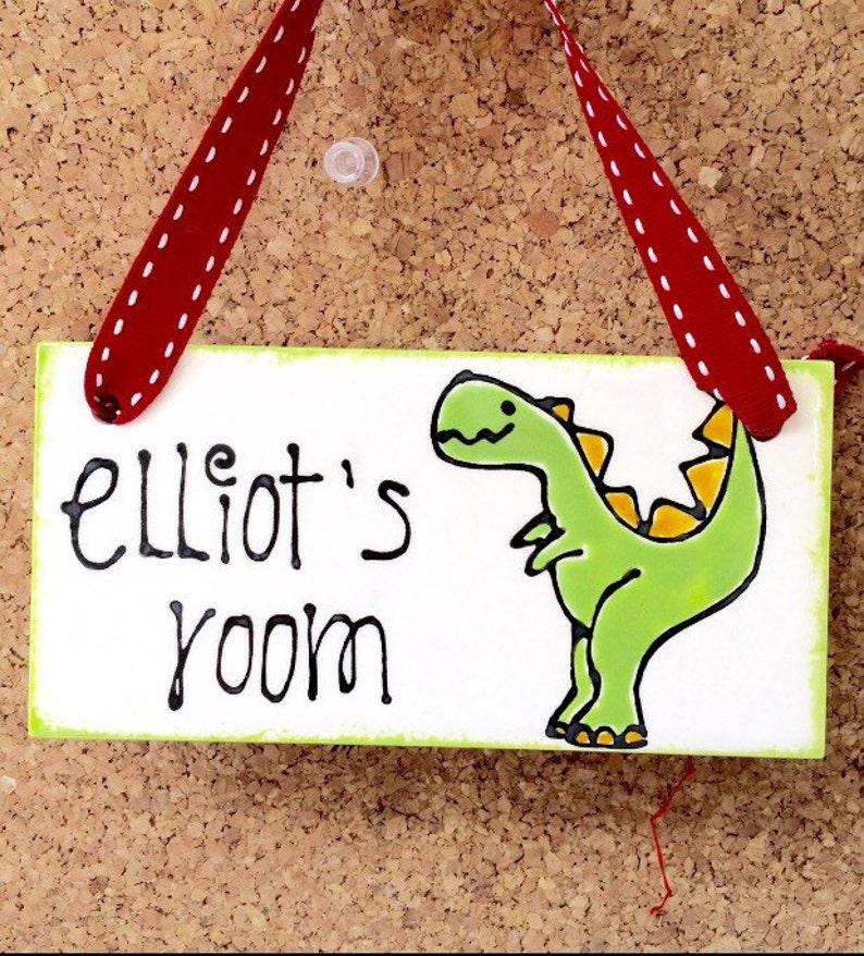 Dinosaur Bedroom Door Sign image 0