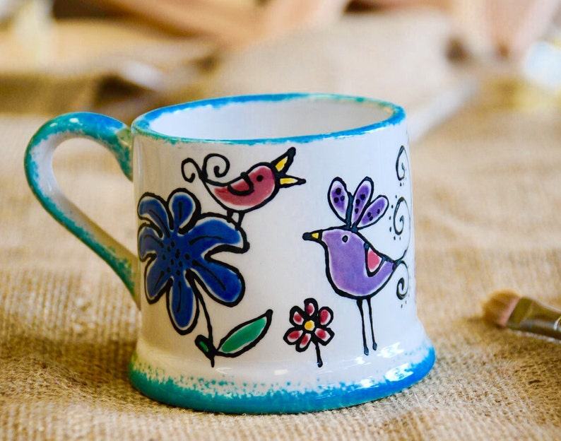 Personalised Children's Bird Mug image 0