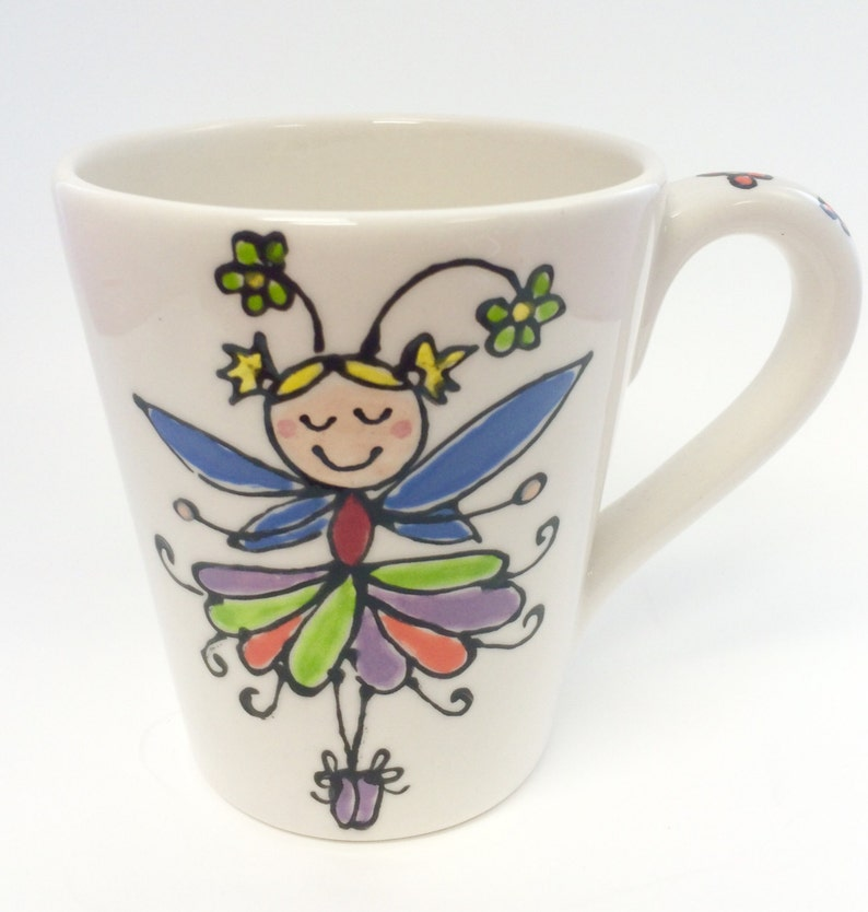 Girls Fairy Princess Birthday Mug image 0