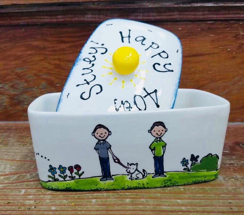 Personalised Birthday Butter Dish image 0