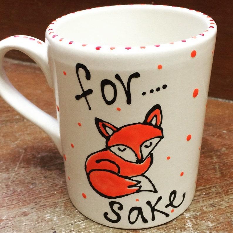 Hand painted Fox Mug image 0
