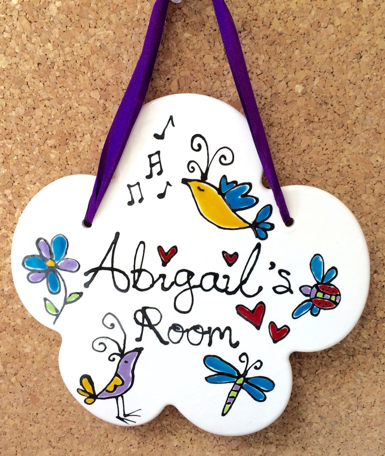 Personalised Bird Room Sign image 0