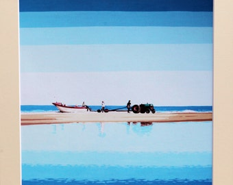 Sea reflections - Limited edition mounted Glicee print.