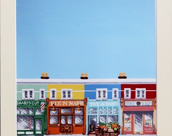 Perfect high street - limited edition mounted Glicee print.