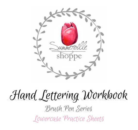 Hand Lettering Workbook - Lowercase Practice Sheets