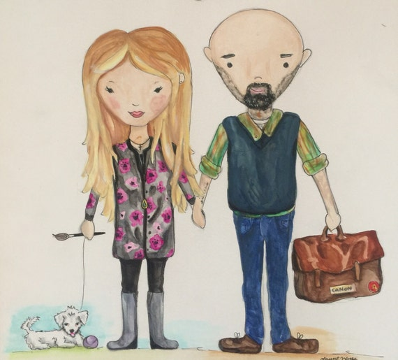 Custom Family Portrait - Watercolor Illustration