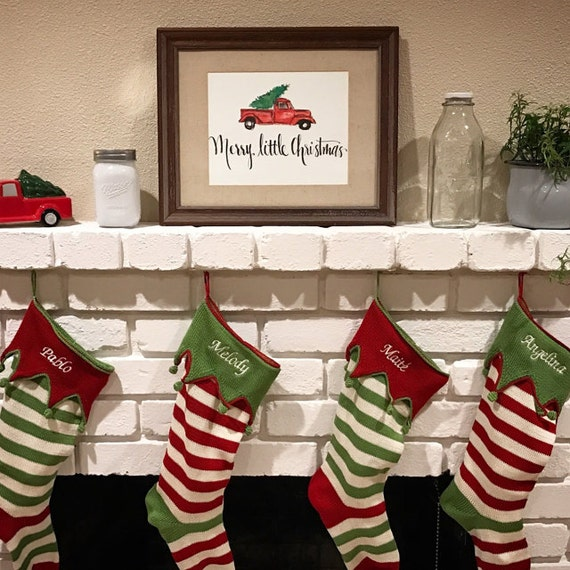 Merry Little Christmas *Instant Download Red Truck Print