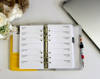 Personal Ring Size : One Week Per Page / Two Weeks on Two Pages | PRINTED Planner Inserts | DreamPlanRepeat