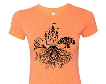 Disney Roots Womens Fit Tee | Disney Shirt | Disney Tee | Disney Trip Shirt