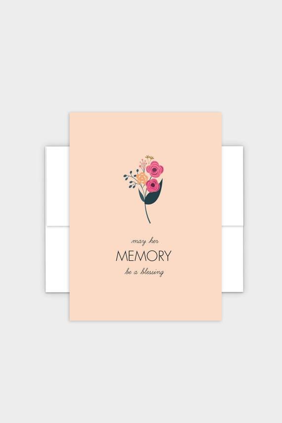 Jewish Condolences Card