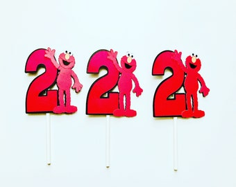 Elmo Cupcake Toppers Party Birthday Decorations Supplies Favors Sesame Street