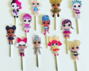 LOL Surprise Dolls Cupcake Toppers, lol surprise dolls, lol dolls, lol dolls cupcake toppers, lol cupcake toppers
