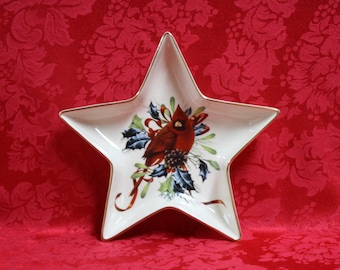 Catherine mcclung etsy lenox winter greetings star candy dish winter greetings fine bone china catherine mcclung winter greetings lenox china cardinal candy m4hsunfo