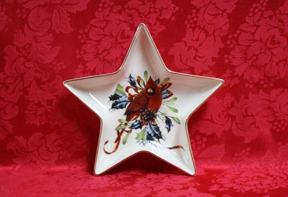 Lenox winter greetings star candy dish winter greetings fine etsy image 0 m4hsunfo