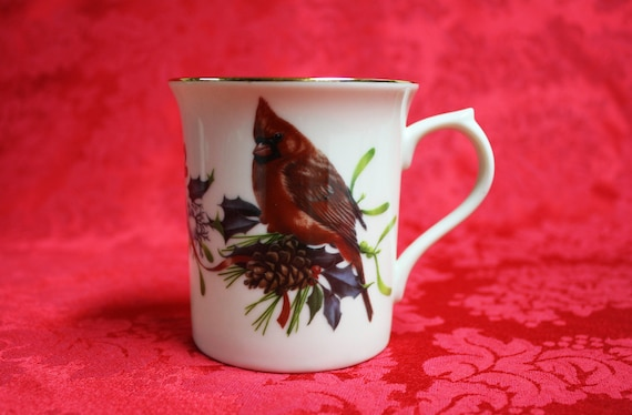 Lenox winter greetings cardinal mug winter greetings etsy image 0 m4hsunfo