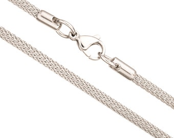 4mm Stainless Stain Lantern Chain Stainless Steel chain Necklace With Lobster Claw Clasp Sold Per 20Inch