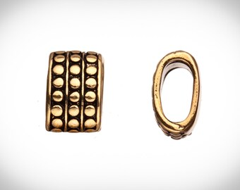 4pcs Vertical rivets antique gold-plated Licorice charms fits Licorice leather fits 11x6mm cord, 15x9mm