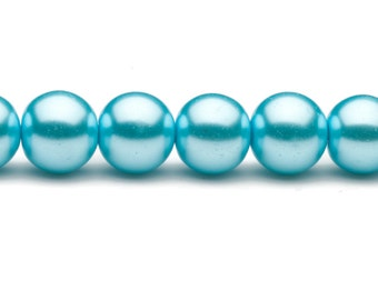 4-16mm pale blue round glass pearl