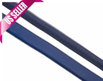 Blue Licorice leather cord for Licorice charms 10x6mm, sold per 7.8in custom-cut length available