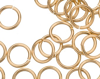 15 gauge Jump Rings Jump Rings gold finished brass 12mm sold per 60pcs