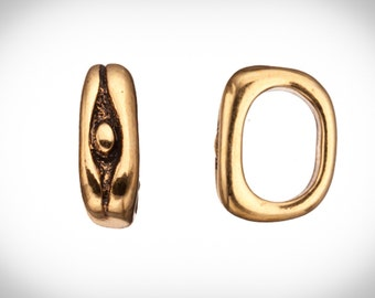4pcs Eye ward antique gold-plated Licorice charms fits Licorice leather fits 10x7mm cord, 15x5mm