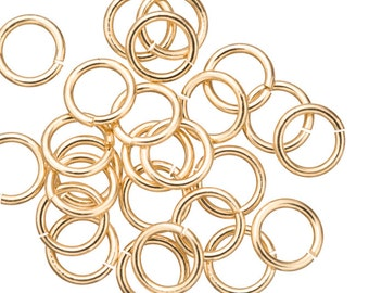15 gauge Jump Rings Jump Rings gold finished brass 10mm sold per 40pcs