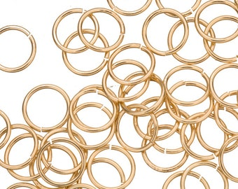 18 gauge Jump Rings Jump Rings gold finished brass 10mm sold per 100pcs