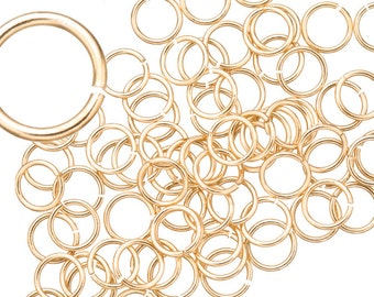 20 gauge Jump Rings Jump Rings gold finished brass 7mm sold per 100pcs