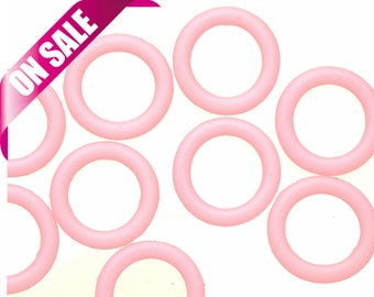 25Pcs pink O-Ring for Licorice Leather 2x12mm