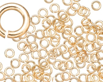 18 gauge Jump Rings Jump Rings gold finished brass 5mm sold per 400pcs